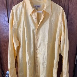 Tommy Bahama yellow long sleeve button down XL